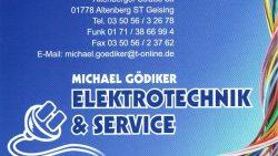 E-Technik Gödiker - Sponsor im Ski und Eisfasching Geising